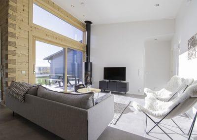 Olohuone Anttilanrannantie Riverside Luxury Suites