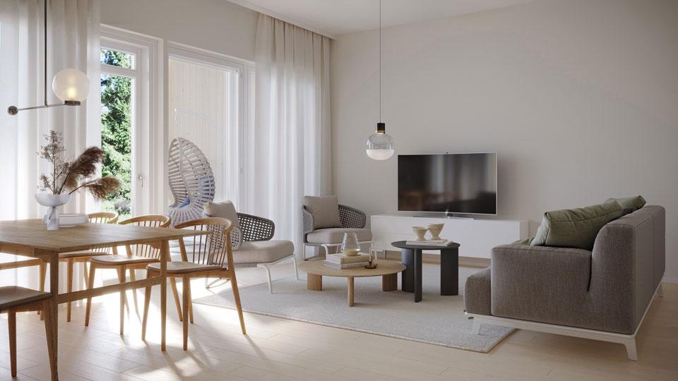 3h+k+s   73,5 m²   229 000 €   Saarenkylä, Vaaralantie 4 A5